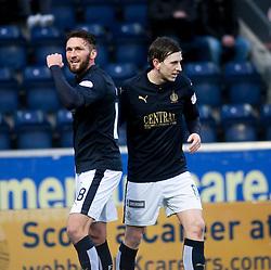 Falkirk's Lee Miller celebrates after scoring their first goal.  <br /> Falkirk 4 v 1 Fraserburgh, Scottish Cup third round, played 28/11/2015 at The Falkirk Stadium.