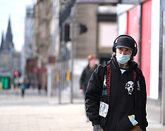 Empty Streets During Coronavirus Outbreak, Edinburgh, 31 March 2020