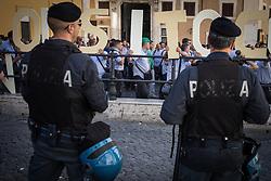 June 19, 2017 - Rome, Italy, Italy - Garrison at Montecitorio of  employees ATAC against the amendment ''Covello '' witch deletes the Royal Decree 148 of the Autoferrotranvieri 1931. (Credit Image: © Andrea Ronchini/Pacific Press via ZUMA Wire)
