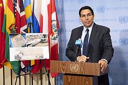 April 26, 2018 - New York, NY, U.S - Ambassador DANNY DANON, Permanent Representative of Israel to the United Nations, speaking at the United Nations in New York City on April 26, 2018 (Credit Image: © Michael Brochstein via ZUMA Wire)