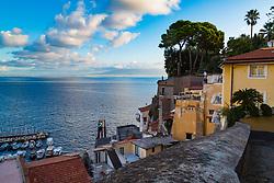 Sorrento, Italy, September 15 2017. Early morning in Marina Grande in Sorrento, Italy. © Paul Davey