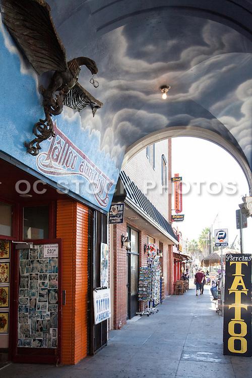 Tattoo and Piercing Shop on the Boardwalk in Venice Beach California