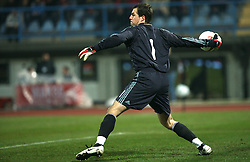 Thomas Sorensen (goalkeeper) of Denmark during the UEFA Friendly match between national teams of Slovenia and Denmark at the Stadium on February 6, 2008 in Nova Gorica, Slovenia.  Slovenia lost 2:1. (Photo by Vid Ponikvar / Sportal Images).