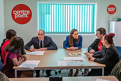 The Duke and Duchess of Cambridge during a visit to Centrepoint in Barnsley.