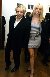Musician NICK RHODES and MEREDITH OSTROM at a private view of 'Warhol's World' an exhibition of photography and Television by Andy Warhol held at Hauser & Wirth, Piccadilly, London on 26th January 2006.<br /><br />NON EXCLUSIVE - WORLD RIGHTS