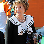 Koningsdag 2014 in de Rijp, het vieren van de verjaardag van de koning. / Kingsday 2014 in the Rijp , celebrating the birthday of the King. <br /> <br /> <br /> Op de foto / On the photo:  Prinses Margiet / Princess Margiet