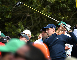 April 6, 2017 - Augusta, GA, USA - Matthew Fitzpatrick watches his drive from the 18th tee box during first round action of the 2017 Masters Tournament at Augusta National Golf Club on Thursday, April 6, 2017 in Augusta, Ga. Fitzpatrick finished the round at -1. (Credit Image: © Jeff Siner/TNS via ZUMA Wire)
