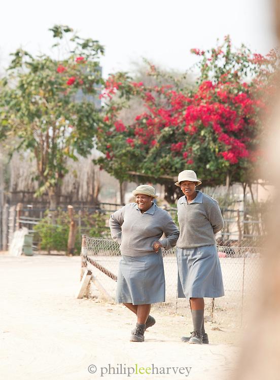 School teachers in the village of Seronga in the Okavango Delta, Botswana