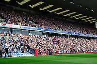 Burnley's Manager Sean Dyche acknowledges the fans as he walks out onto the pitch ahead of his sides first Premier League game of the season<br /> <br /> Photographer Chris Vaughan/CameraSport<br /> <br /> Football - The Premier League - Burnley v Swansea City - Saturday 13th August 2016 - Turf Moor - Burnley<br /> <br /> World Copyright © 2016 CameraSport. All rights reserved. 43 Linden Ave. Countesthorpe. Leicester. England. LE8 5PG - Tel: +44 (0) 116 277 4147 - admin@camerasport.com - www.camerasport.com