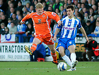 Photo: Tom Dulat/Sportsbeat Images.<br /> <br /> Colchester United v Blackpool. The FA Barclays Premiership. 29/12/2007. <br /> <br /> Claus Jorgensen of Blackpool and Johnnie Jackson of Colchester United with the ball.