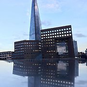Reflections of the Shard from the metal rail on London Bridge. Shot on iPhone 6.