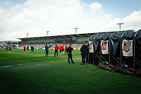 Football - 2020 / 2021 Sky Bet League Two - Newport County  vs Cheltenham Town - Rodney Parade<br /> <br /> A general view of Rodney Parade as Cheltenham Town players arrive at the ground, home of Newport County.<br /> <br /> COLORSPORT/ASHLEY WESTERN