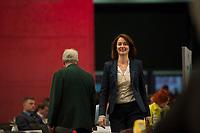 DEU, Deutschland, Germany, Berlin, 11.12.2015: Die neue SPD-Generalsekretärin Katarina Barley (SPD) beim Bundesparteitag der SPD im CityCube.
