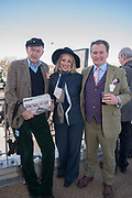 Rupert Lycett Green, Josephine Pembroke;  James Pembroke, Cheltenham races,  Ladies Day, Wednesday 15 March 2017