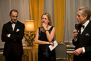 Dr. Luigi  Maramotti, Iwona Blazwick and the Italian Ambassado, Dinner at the Italian Embassy in which the winner of the MaxMara Art Prize ( in collaboration with the Whitechapel art gallery )for Women is announced. Grosvenor Sq. London. 29 January 2008.  -DO NOT ARCHIVE-© Copyright Photograph by Dafydd Jones. 248 Clapham Rd. London SW9 0PZ. Tel 0207 820 0771. www.dafjones.com.