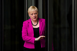 © Licensed to London News Pictures. 10/07/2016. London, UK. Labour MP ANGELA EAGLE walks through revolving doors as she leaves BBC Broadcasting House in London after appearing on Sunday Politics show, on July 10, 2016. Angela Eagle is expected to announce her bid for the leadership of the Labour Party. Photo credit: Ben Cawthra/LNP