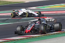 March 9, 2018 - Barcelona, Catalonia, Spain - Haas driver Romain Grosjean (8) of France during the test of F1 celebrated at Circuit of Barcelonacon 9th March 2018 in Barcelona, Spain. (Credit Image: © Joan Valls/NurPhoto via ZUMA Press)