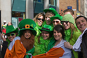People partying on the streets of Dublin, St. Patrick's Day, 2009