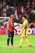 NONTHABURI, THAILAND - JULY 02: Heberty of SCG Muangthong United and N.Surachet of Pattaya United shakes and after the second half of the Thai League: SCG Muangthong United vs Pattaya United at SCG Stadium, Nonthaburi, Thailand on July 02, 2017.<br /> .<br /> .<br /> .<br /> (Photo by: Naratip Golf Srisupab/SEALs Sports Images)<br /> .<br /> Any image use must include a mandatory credit line adjacent to the content which should read: Naratip Golf Srisupab/SEALs Sports Images