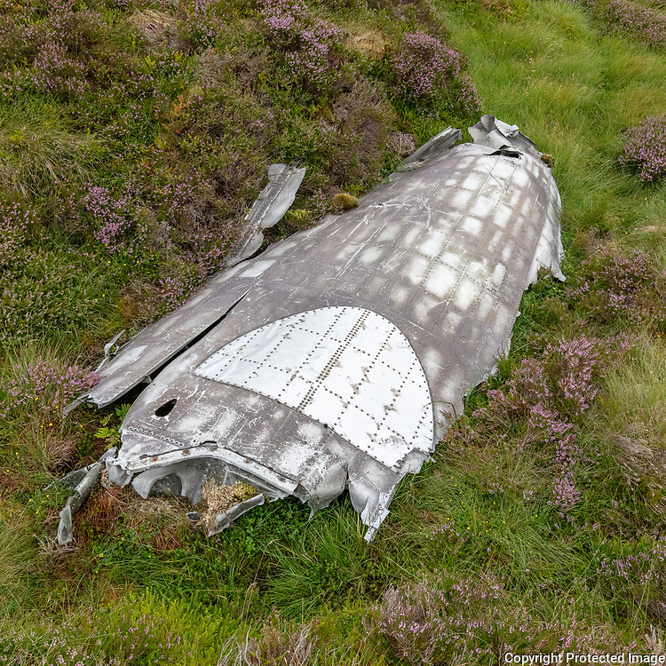 The remains of a Lockheed Neptune MR.1 from No 36 Squadron based at Topcliffe in Yorkshire. Ìt crashed on Beinn na Lice on 10 October 1956, Argyll & Bute, Scotland.