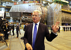 Defence Secretary Michael Fallon speaks to media in front of HMS Audacious at BAE Systems, Burrow-in-Furness, where he will attend a steel-cutting ceremony to formally commence production of the UK's next generation of nuclear submarines.