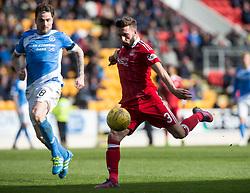 Aberdeen's Graeme Shinnie. St Johnstone 1 v 2 Aberdeen. SPFL Ladbrokes Premiership game played 15/4/2017 at St Johnstone's home ground, McDiarmid Park.