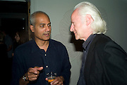 GEORGE ALAGIAH AND DUNCAN CAMPBELL,  'Cries from the Heart' presented by Human Rights Watch at the Theatre Royal Haymarket. London. Party afterwards at the Haymarket Hotel. June 8, 2008 *** Local Caption *** -DO NOT ARCHIVE-© Copyright Photograph by Dafydd Jones. 248 Clapham Rd. London SW9 0PZ. Tel 0207 820 0771. www.dafjones.com.