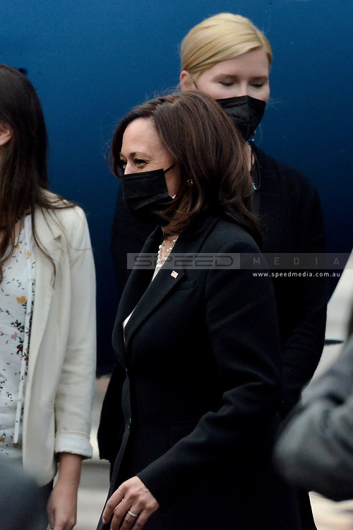 MEXICO CITY, MEXICO - JUNE 8: Vice President Kamala Harris, arrives at  Benito Juarez International  Airport, return to  Joint Base Andrews in Washington, DC. after meet with Mexico's  authorities to talk about migratory policy as part of her working visit to  Mexico about on June 8, 2021 in Mexico City, Mexico.