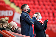 Charlton Athletic fan clapping during the EFL Sky Bet League 1 match between Charlton Athletic and AFC Wimbledon at The Valley, London, England on 12 December 2020.