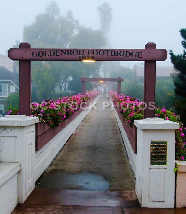 Goldenrod Foot Bridge in Corona Del Mar of Newport Beach California