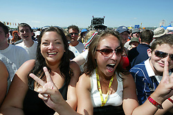 Fans at the main stage, at T in the Park, Sunday 13/7/2003..Pic: © Michael Schofield.