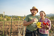 Sarah Kleeger and Andrew Still, owners of Adaptive Seeds in Sweet Home, Oregon