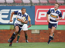 Elgar Watts of the DHL Stormers scores a try during the final warm-up match before the start of the Super Rugby season between the DHL Stormers and the Boland Cavaliers held at DHL Newlands Stadium in Cape Town, South Africa on 12 February 2011. Photo by Jacques Rossouw/SPORTZPICS