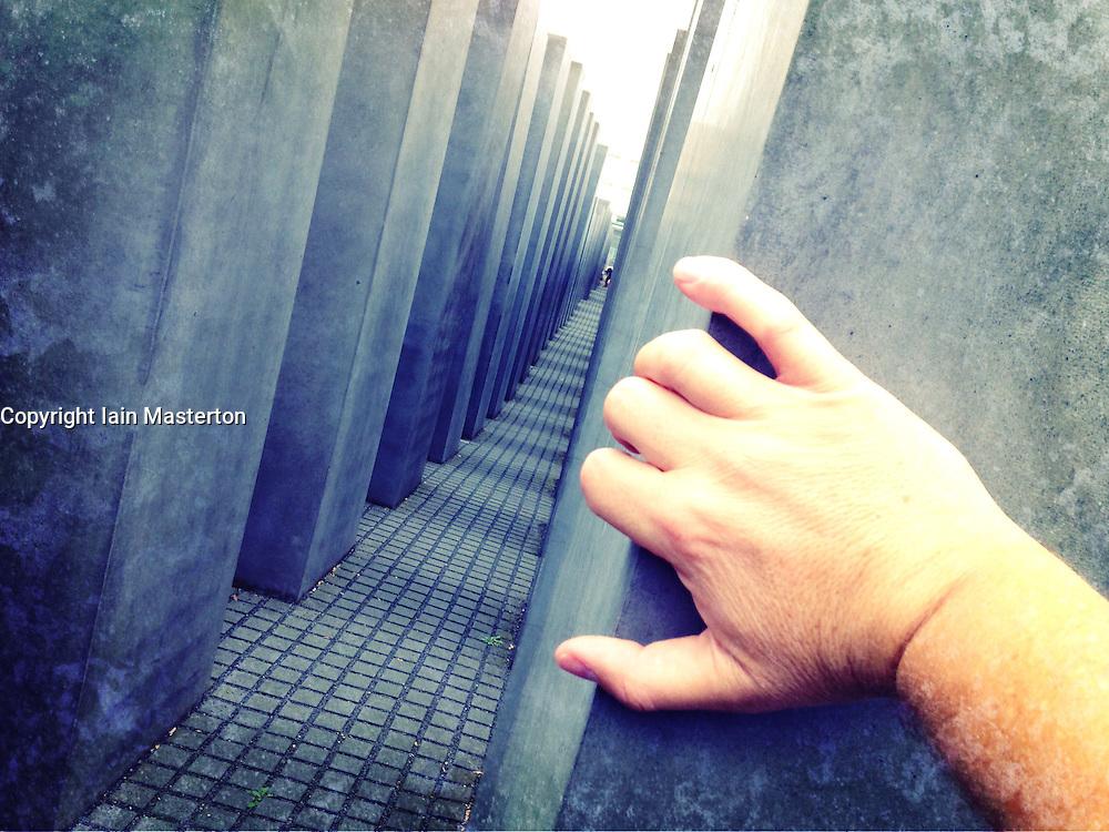 Memorial to Murdered Jews of Europe (Holocaust Memorial) in Berlin Germany
