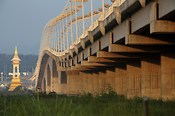The third Friendship Bridge over the Mekong River between Nakhon Panom, Thailand and Thakhek in Khammuane, Lao PDR