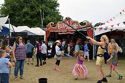 Latitude Festival 2017, Henham Park, Suffolk, UK. Bubble entertainer