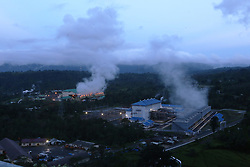 June 16, 2017 - Lampung, lampung, indonesia - Lampung Geothermal Potential - The morning atmosphere in Ulubelu 3 and 4 PLTP with 2 x 55 MW capacity operated by PT. Pertamina Geothermal Energy area Ulubelu, Lampung,. Geothermal potential in Lampung Province is about 2,867 MW or about 10 percent of total geothermal potential of Indonesia and is ranked third after West Java and North Sumatra Province. PT. Pertamina Geothermal Energy continues to develop potential geothermal projects in areas such as Tasikmalaya, Bengkulu, Jambi, Muara Enim, Central Java and Aceh (Credit Image: © Denny Pohan via ZUMA Wire)