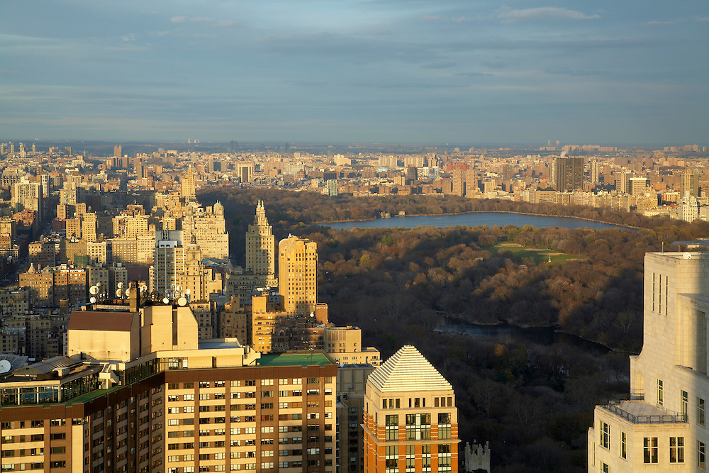 View of Central Park from 80 Columbus Circle, 73rd floor