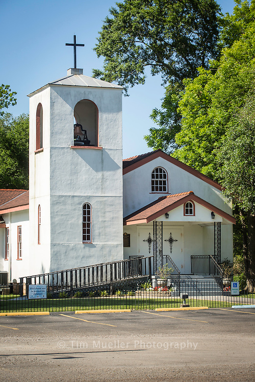The St. Bernard Catholic Church is located on LA. Hwy. 300 on the San Bernardo Byway. The Church was established to serve the colonist from the Canary Islands that settled along Bayou Terre aux Boeufs. The Byway follows the Mississippi River through the communities of St. Bernard Parish.