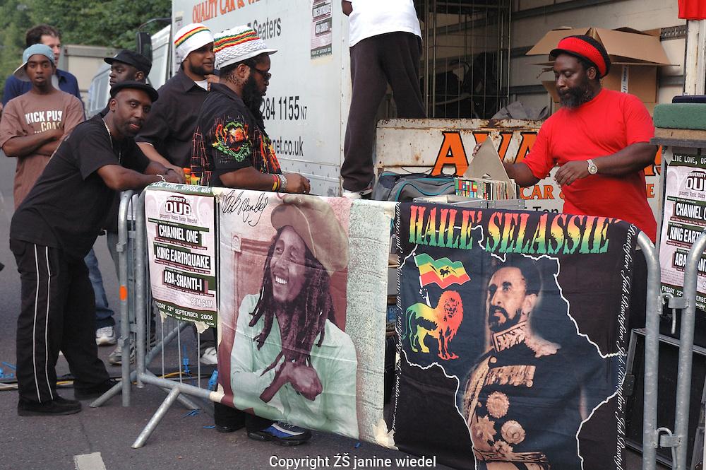 Rastafarian stall at Notting Hill Festival