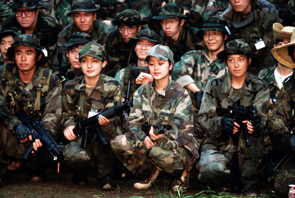 NAEBA, JAPAN --- August 21-22, 1999:  Otaku - War Games, team photos.. --- Photo by Tom Wagner/Corbis SABA