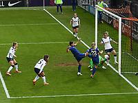 Football - 2020 / 2021 Barclays FA Women's Super League - Round 21 - Tottenham Hotspur vs Chelsea - The Hive Stadium<br /> <br /> Chelsea FC Women's Sam Kerr scores her side's second goal.<br /> <br /> COLORSPORT/ASHLEY WESTERN