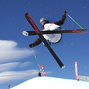 Yannic Lerjen, Switzerland, in action in the Men's Halfpipe Finals during The North Face Freeski Open at Snow Park, Wanaka, New Zealand, 3rd September 2011. Photo Tim Clayton..