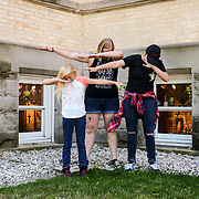 Ashley And Family At Grand Traverse Commons In Traverse City Michigan