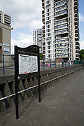 The Wyndham and Comber housing estate on 26th May 2016 in London, United Kingdom. The Wyndham and Comber is a council estate in the Camberwell area of Southwark, London.