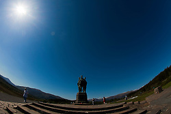 The Commando Memorial is a Category A listed monument in Scotland, dedicated to the men of the original British Commando Forces raised during World War II. Situated around a mile from Spean Bridge village, it overlooks the training areas of the Commando Training Depot established in 1942 at Achnacarry Castle..©Michael Schofield..