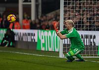 Football - 2018 / 2019 Premier League - Crystal Palace vs. Manchester United<br /> <br /> Vincente Gusita (Crystal Palace) saves from a Paul Pogba (Manchester United) free kick at Selhurst Park.<br /> <br /> COLORSPORT/DANIEL BEARHAM