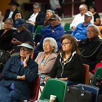 Community members at the Navajo Uranium Miners Forum Wednesday, Oct. 2 in Window Rock hosted by U.S. Rep. Raúl Grijalva.