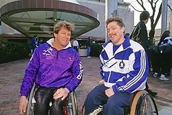 Bob Hall With Friend, Wheel Chair Marathoners, Boston Marathon 1994