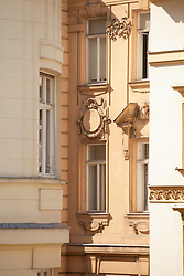 Apartment building Vienna Austria facade windows